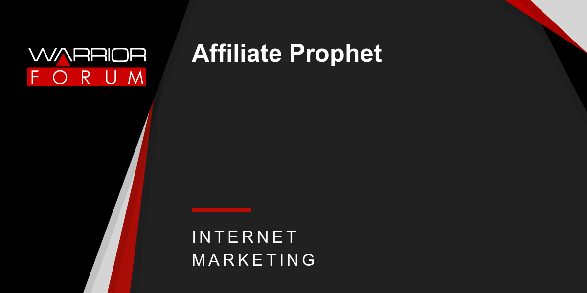 The Truth Behind Affiliate Prophet